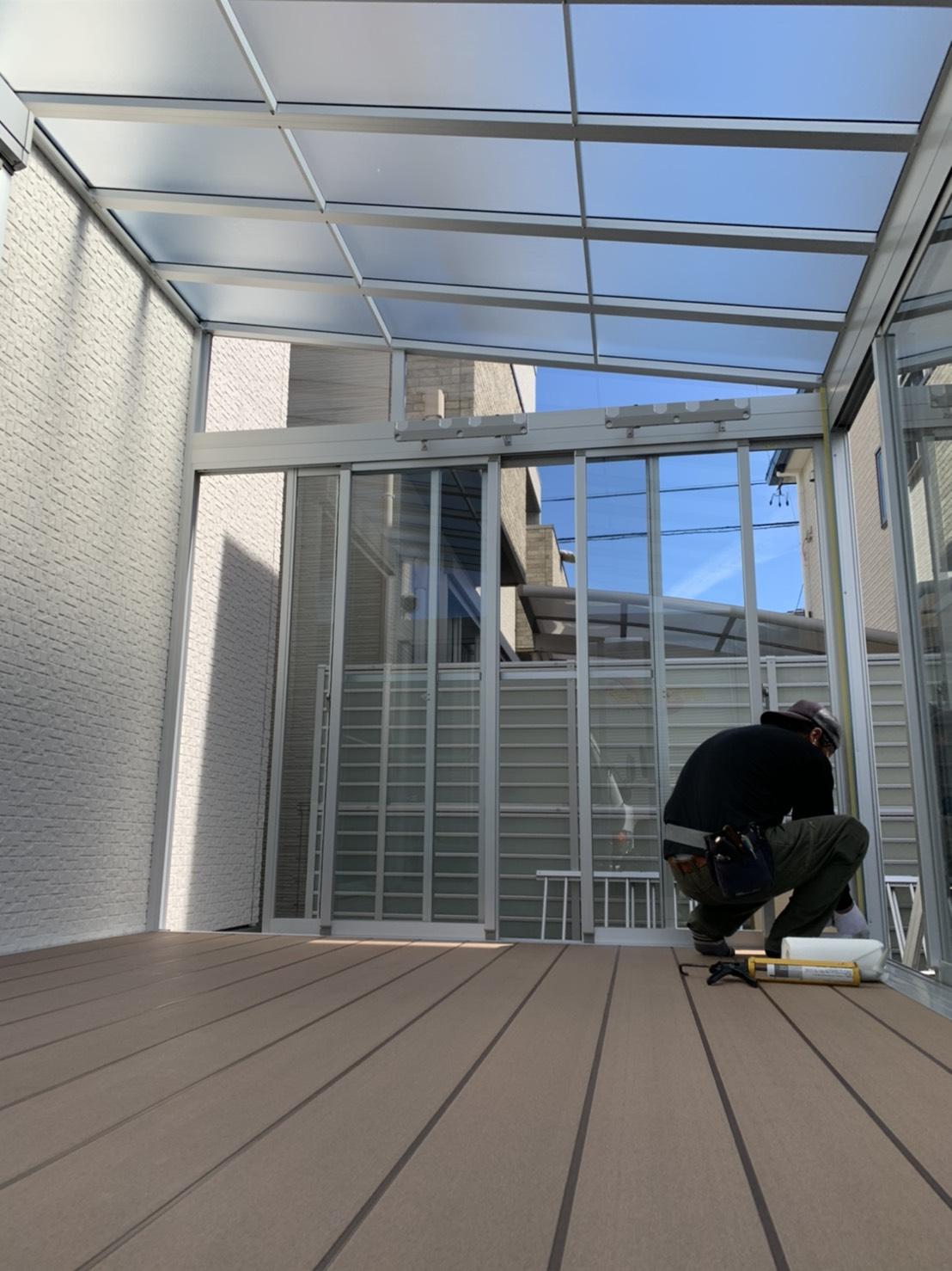 愛知県豊明市の戸建住宅にて、サンルーム(LIXILサニージュ)設置工事を行いました!