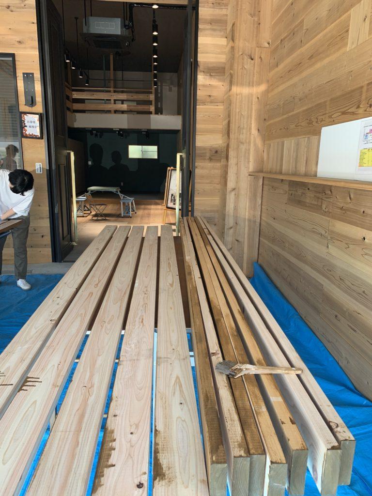 愛知県大府市の窓香房の作業場にて、お客様と共に工事前の準備を致しました。【窓香房】