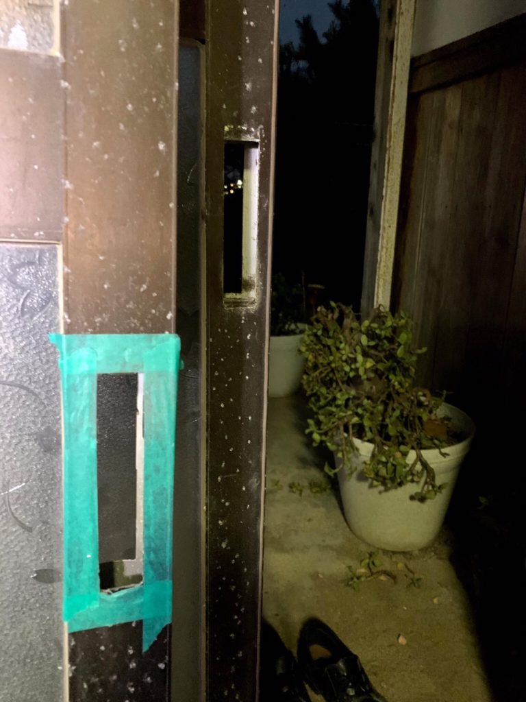 愛知県大府市の戸建住宅にて、玄関引戸の錠前取替工事を行いました。【窓香房】