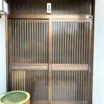 愛知県名古屋市緑区の戸建住宅にて、玄関引戸取替工事を行いました。LIXILリシェント引戸【窓香房】
