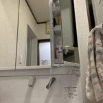 愛知県大府市共栄町にて、洗面化粧台の取付工事を行いました。TOTO【窓香房】