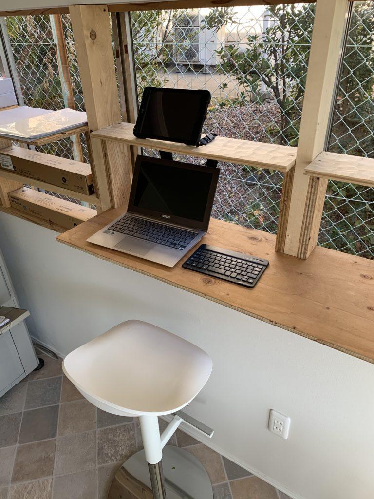 愛知県大府市の本社事務所にて、ワークスペースを作ってみました!【窓香房】