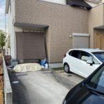 愛知県名古屋市北区の戸建住宅にて、3台用カーポート設置工事を行いました。(三協アルミMシェード)【窓香房】