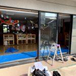 愛知県豊明市の店舗にて、サッシ取替工事を行いました。(YKKサッシカバー工法)【窓香房】