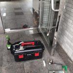 愛知県大府市のマンションにて、エントランスドア電気錠取替工事を行いました。(フロントドア電気錠)【窓香房】