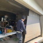 愛知県豊明市にて、ガレージシャッター取替工事を行いました。(ガレージシャッター手動+電動)【窓香房】