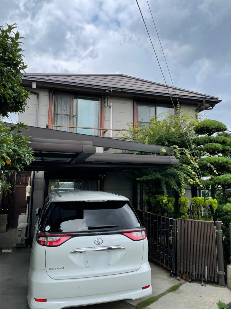 愛知県大府市北山町の戸建住宅にて、日除け設置工事を行いました。(LIXIL スタイルシェード)【窓香房】