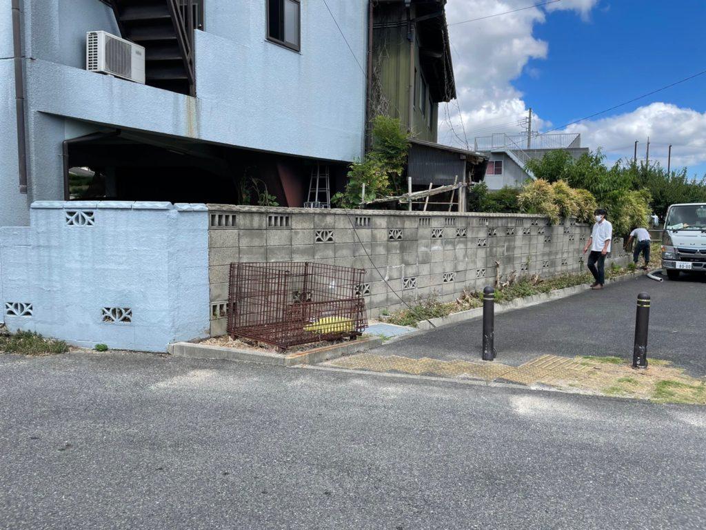 愛知県大府市にて、コンクリートブロック擁壁の改修工事を行いました。【窓工房】